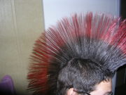 my new red and black mohawk