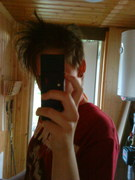 me with a weard hairstyleXD