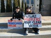 Protesting the Transcanada Pipeline