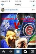 Cubs Mohawk vs. Dodgers Mohawk