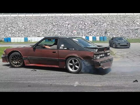 Drifting At the 2019 Import Carlisle 6  Burnt  Mustang, BMW and Nissan 240sx Smoke and Angles