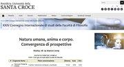 XXIV Convegno internazionale di studi della Facoltà di Filosofia. Pontificia Università della Santa Croce. Roma.