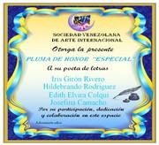 SVA Pluma de Honor Especial azul