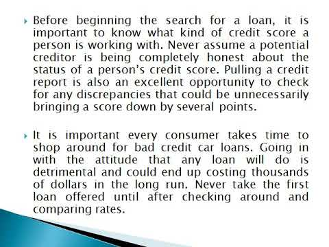 5 Things a Consumer Better Know About Bad Credit Car Loans - Decs We kill Debt
