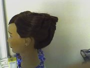 updo with creativeness in mind