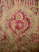 Turkish Gold Thread Ottoman Embroiderie: detail (floral pattern)
