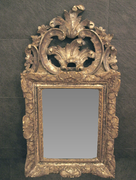Rare Silver-gilt Mirror of the Early Louis XV Period
