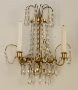 antique glass wall sconce