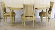1900s antique swedish gustavian dining table