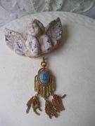 Beautiful Blue Cameo Dangle Pendant