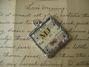 Romantic Vintage Glass Charm