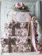 Custom Orders Romantic Vintage Embellished Wedding Cake Cardbox