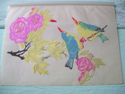 Vintage Asian Folk Art Bird Ephemera