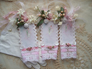 Vintage Shabby Bride Mixed Media Collage Tags