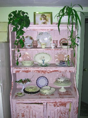 Shabby Chippy Pink Cottage Vintage Hutch