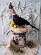'Crow Wizard n Little Witch Faerie Jar'