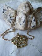 Vintage Crown Pendant Necklace