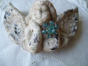 Shabby Aqua Petite Rhinestone Brooch