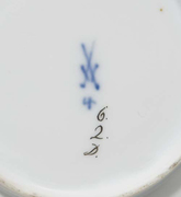 Meissen Cup and Saucer in the Manner of Wedgwood