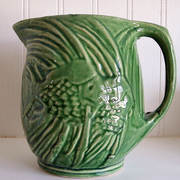 Vintage McCoy Green Angelfish Pitcher