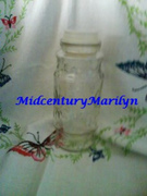 Mr Peanut Collectible Jar Rare 1980 Tall Apothecary Style Starburst or Daisy Design