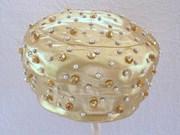 Vintage Mr Almo Gold Rhinestone Designer Hat