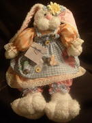 Brand New Collectible House Of Lloyd Sew Many Buttons Bren Hopkins 1998 Plush Bunny Rabbit