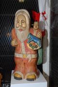 Solid wood Santa Claus. $400.00