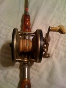 reel on pole with original catgut line