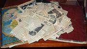 Pair Vintage African American World War II Era Scrap Books plus Clippings - Detroit, Michigan.