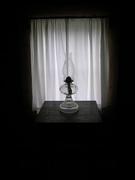 Antique Oil Lamp in Levi Shinn House, Shinnston, WV