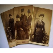 Carte de Visite Photos - Victorian Hats