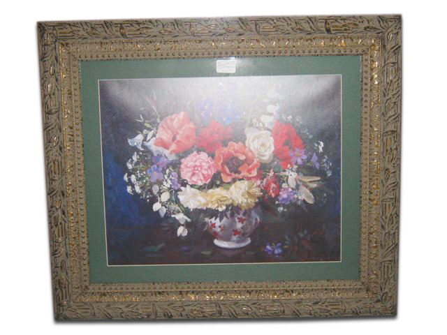 $69 Beautiful Large Frame With Floral Print