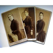 Victorian CDV Photos - Ladies in Bustles