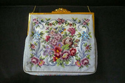 Vintage Tapestry Petit Point Needlepoint Handbag Vienna