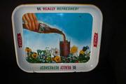 Vintage Coca Cola Lithograph Metal Tray