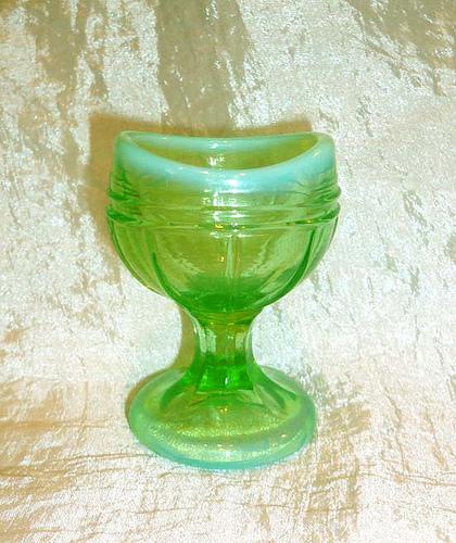 Vintage Vaseline Glass Eye Wash Cup