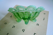 Vintage Butter Dish Opalescent Northwood Glass