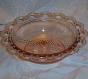 Pink Open Lace 9 inch Bowl by Anchor Hocking
