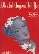 1930s Sheet Music - I Hadn't Anyone Till You