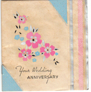 Unsigned 1930s Anniversary Card