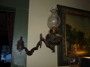 Very cool iron lamp bracket