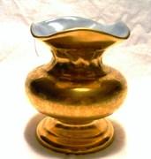 Gold Overlay over porcelain