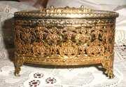 mason filigree jewelry box