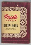 1940s Presto Pressure Cookler Recipe Booklet