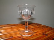 Vintage Heisey Glass,1940's,Crystal Wine Glass,Ridgeleigh Pattern