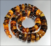 Amber Graduated Chunky Bead Art Deco Necklace