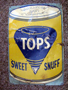 Vintage Tops Sweet Snuff Tin Advertising Sign