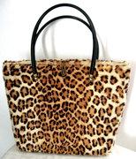 1950s - 60s Real Fur Leopard Print Handbag