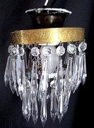 Vintage Mini Crystal Prism Chandelier